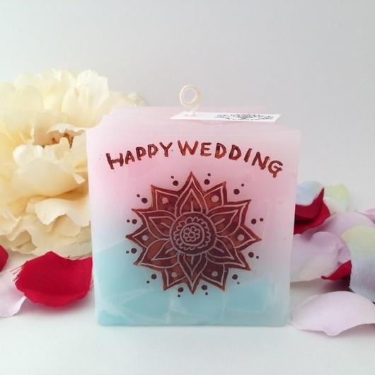 結婚祝いプレゼントキャンドル☆ラッピング付き
