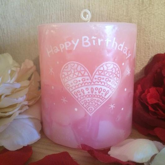 お誕生日プレゼントキャンドル(ローズの香り)