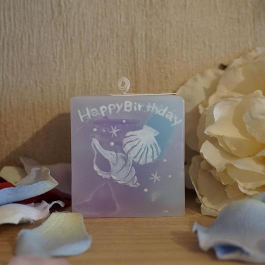 お誕生日プレゼントキャンドル(プルメリアの香り)ラッピング付き!