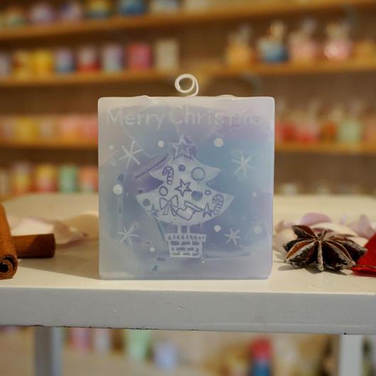 クリスマスプレゼントキャンドル(ローズマリーの香り)