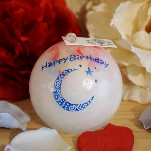 お誕生日プレゼントキャンドル(香りなし)ラッピング付き!