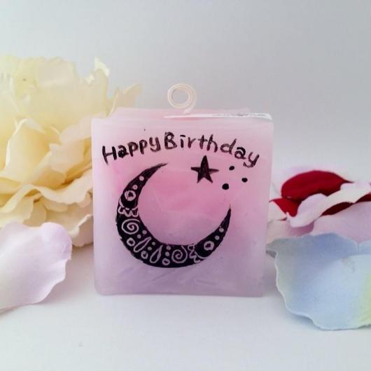 お誕生日プレゼントキャンドル(バニラの香り)ラッピング付き