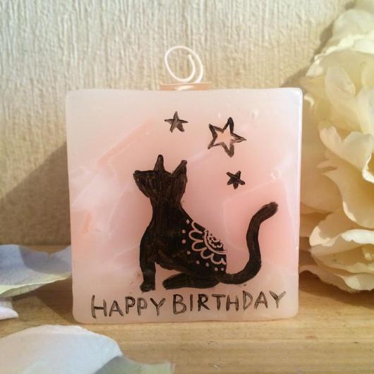 お誕生日プレゼント用キャンドル、ラッピング付き!(バニラの香り)