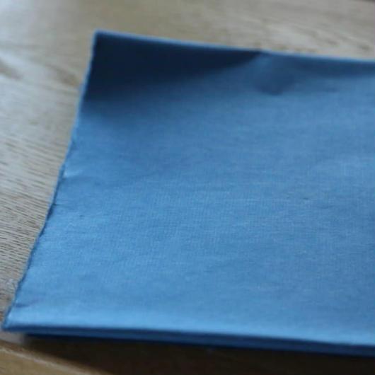 アウトレット品 楮紙 化学染め 青色