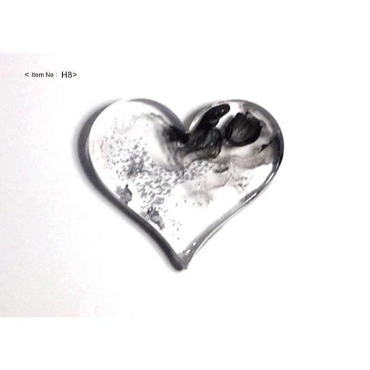 ヘアアクセサリー -HEARTヘアゴム clear&silver-