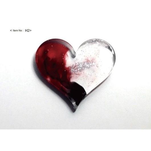 ヘアアクセサリー -HEARTヘアゴム black&red-