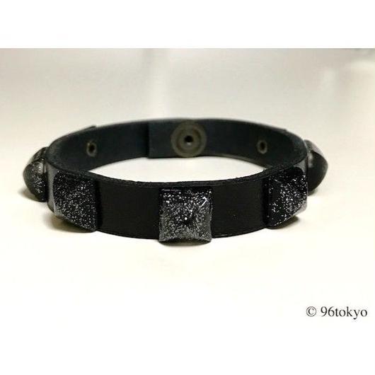 スタッズブレスレット -BLACK-