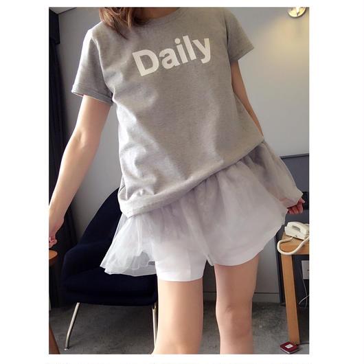 フリルチュニックTシャツ・グレー