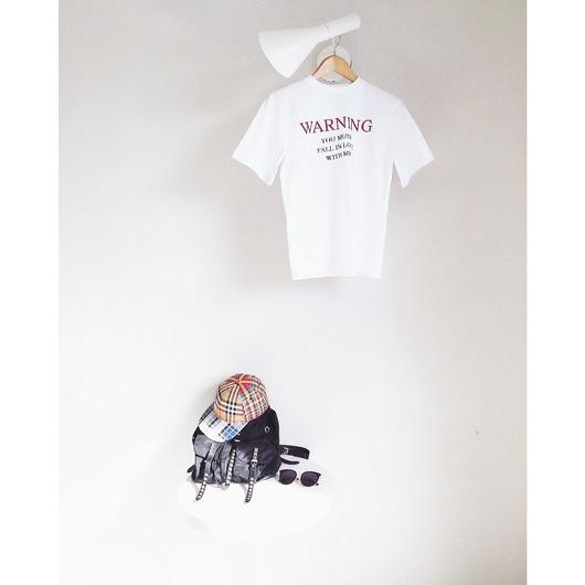 WARNINGシンプルプリントTシャツ