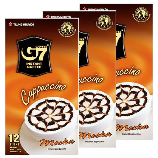 カプチーノ モカ インスタント 【12スティック入り/BOX】 ◆3箱セット◆ TRUNG NGUYEN G7 Cappuccino Mocha 【正規輸入品】