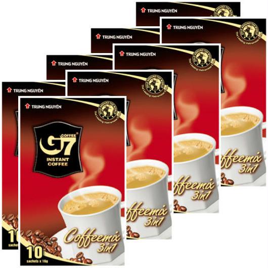 カフェオレ インスタント 【10袋入り/BOX】 ◆8箱セット◆  TRUNG NGUYEN G7 3in1 instant coffee 【正規輸入品】