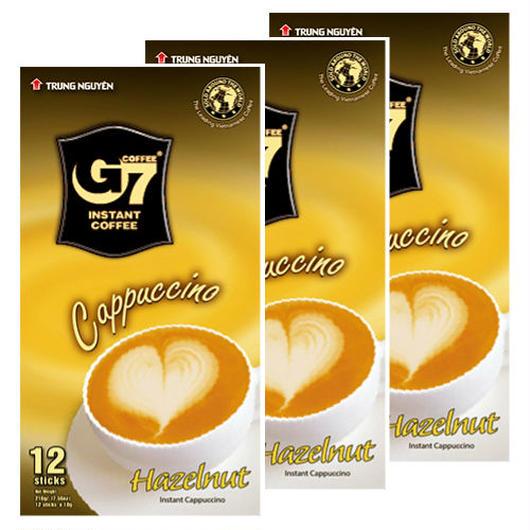カプチーノ ヘーゼルナッツ インスタント  【12スティック入り/BOX】 ◆3箱セット◆ TRUNG NGUYEN G7 Cappuccino Hazelnut 【正規輸入品】
