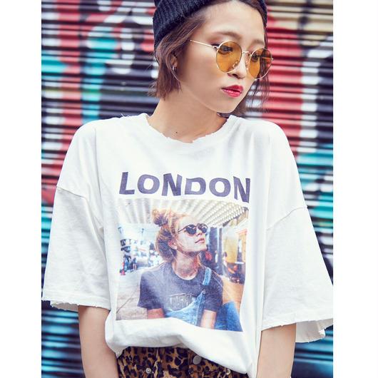 スプレー加工(LONDON)ブロークンTシャツ
