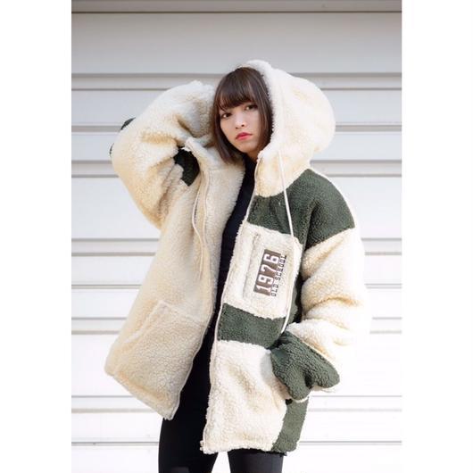 ボア✕中綿フードジャケット