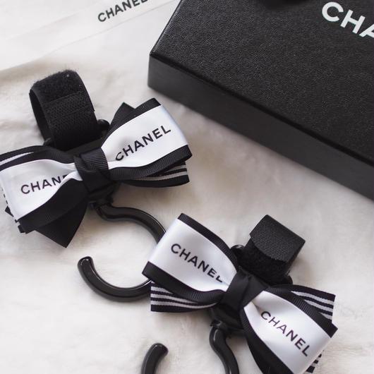 CHANEL風ベビーカーフック(ブラック)