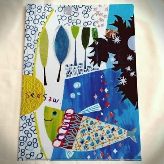 A4クリアファイル「落ちた月と魚」