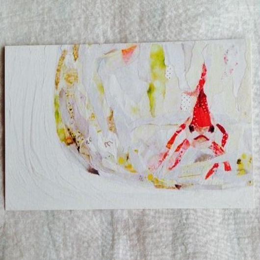 丸田ちひろ ちぎり絵ポストカード  「Sarah」