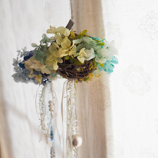 【Petit Petit】サンキャッチャー flower ball -green-