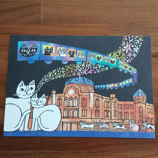 おかべてつろう ポストカード「TOKYO NEKO STATION 2015」