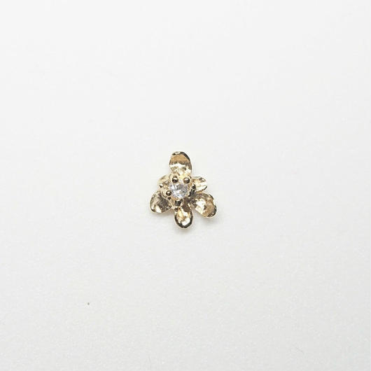 Silver(k18gp) Single earring (Fiore - Topaz)