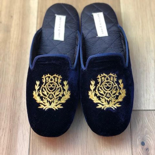 Patricia Green Ladies Slippers DIANA (Navy Blue)