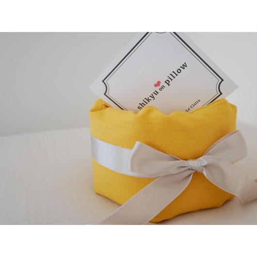 子宮温pillow Lemon yellow/レモンイエロー 1001