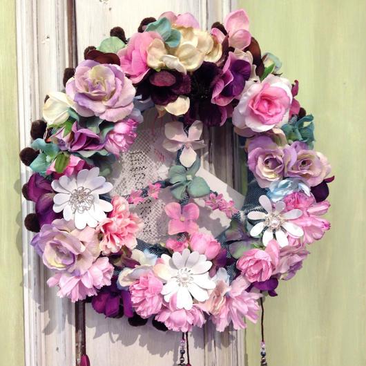 Denim Peace Wreath