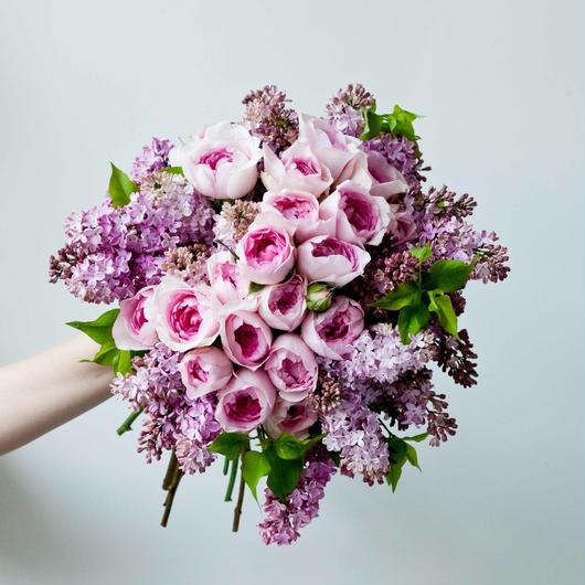 Wedding Bouquet ラウンドブーケ&ブートニアSET(L)