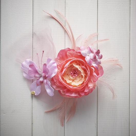 Le Papillon de fleur ヘアーアクセサリー(LL/PK)BOX付き