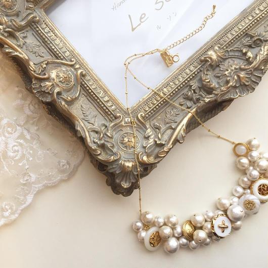vintage..k16gp volume Necklace