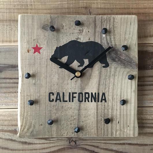 wood clock~california 2~