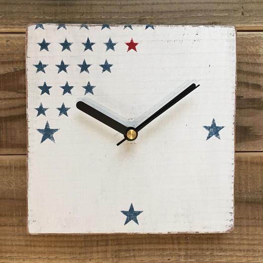 wood clock〜star〜