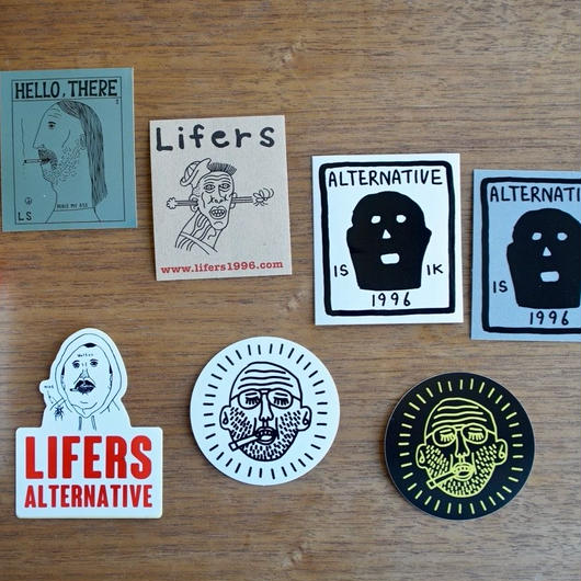 Cigarette Lighter & Sticker  8 SET