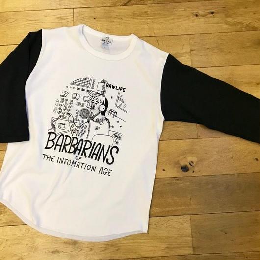 BARBARIANS  USコットン 3/4スリーブシャツ