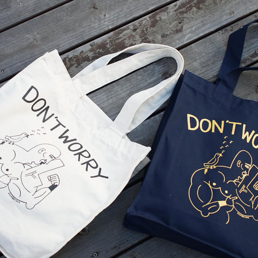 Dont' Worry Tote bag  /  ビッグトートバッグ