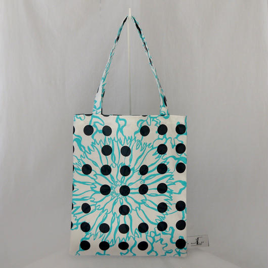 LC TOTE  -BUBBLE FLOWER- (LIGHT BLUE)