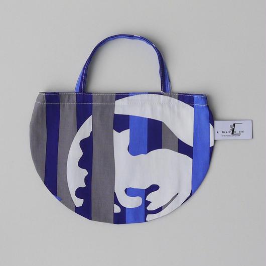 MINI R TOTE           -DEEP BREATH- (BLUE)