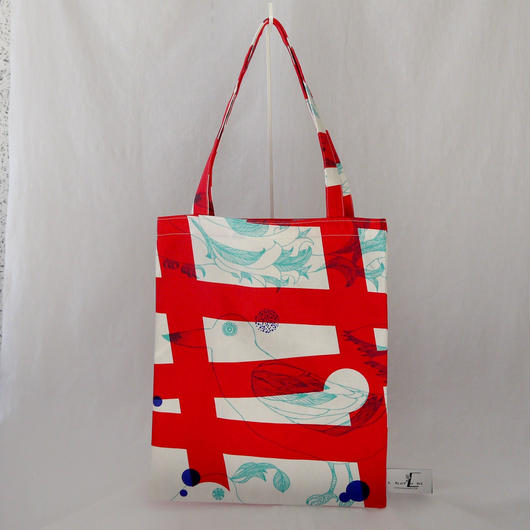 LC TOTE            -MAGIC BIRD- (RED)
