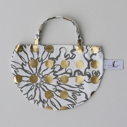 MINI R TOTE           -BUBBLE FLOWER- (GOLD)