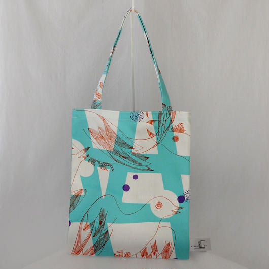 LC TOTE            -MAGIC BIRD- (EMERALD GREEN)