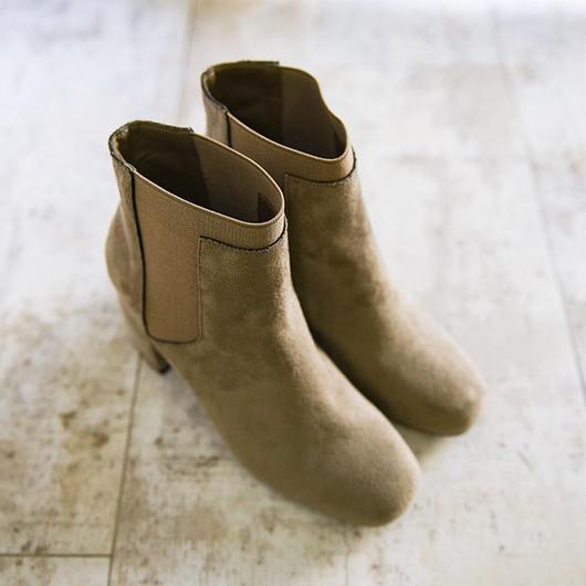ブーツ ショートブーツ サイドゴアブーツ 太ヒールブーツ スエードブーツ  ●sh0006