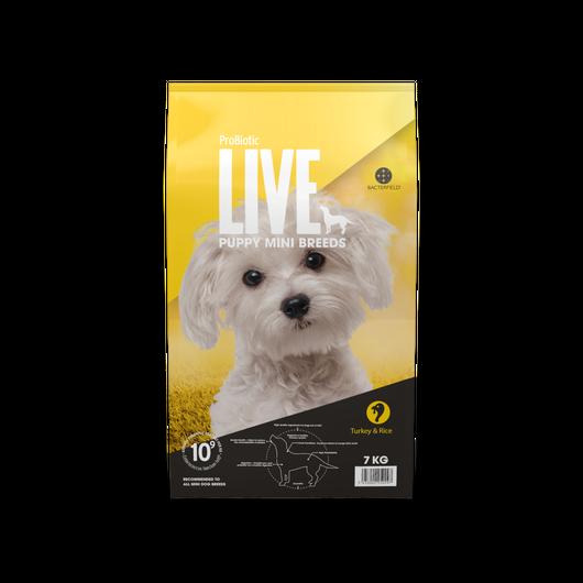 ドイツ発 スーパープレミアム ドッグフード プロバイオティック ライブ (Probiotic Live) 小型犬仔犬 ターキー&ライス