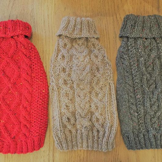LDハンドメイドケーブル編みセーター Mサイズ