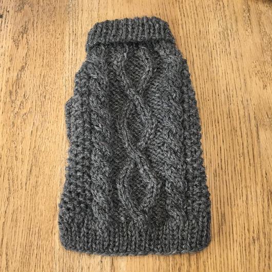 LDハンドメイドケーブル編みセーター(袖あり) Sサイズ