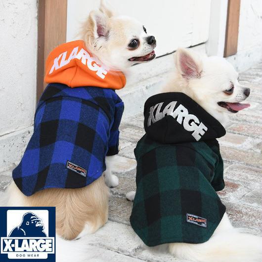 フードフランネルシャツ X-LARGE エクストララージ