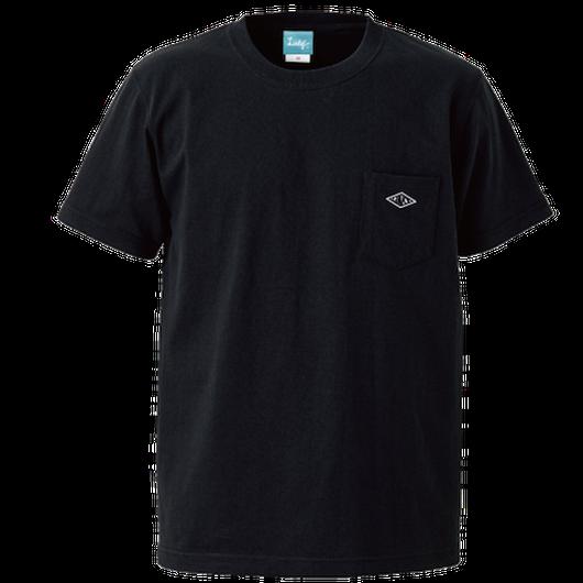 Wappen Pocket T-shirt (Black×Black Wappen) <<WEB STORE限定>>