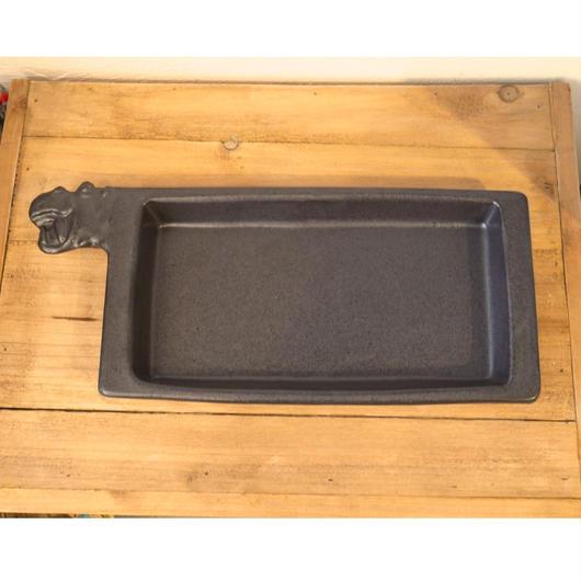 【野村亜土さん】カバの長い耐熱皿