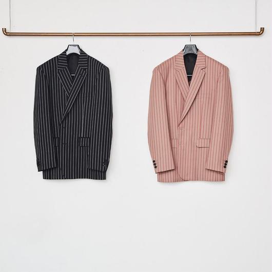 Stripe Single Breasted Jacket