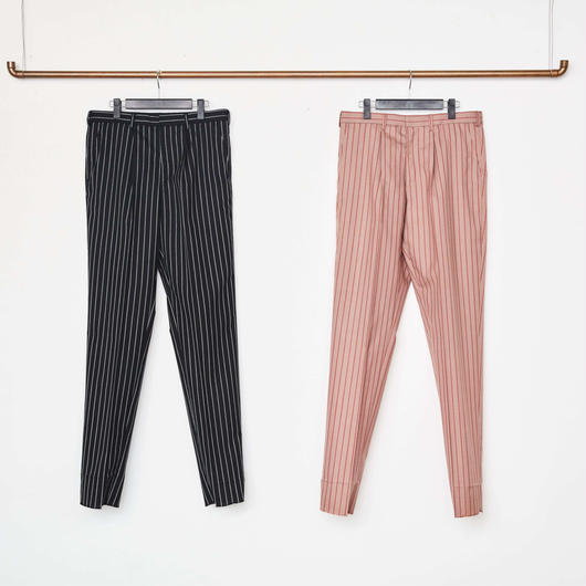 Stripe 1-Tuck Tapered Trousers