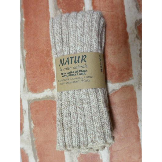 NATUR(ナトゥール)レッグウォーマー  (ウールアルパカ混紡) ZAF995010